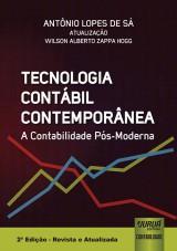 Capa do livro: Tecnologia Contábil Contemporânea - A Contabilidade Pós-Moderna, Antônio Lopes de Sá - Atualização: Wilson Alberto Zappa Hogg