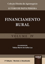 Capa do livro: Financiamento Rural - Volume IV, Lutero de Paiva Pereira