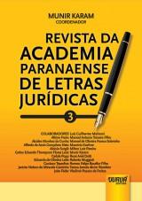 Capa do livro: Revista da Academia Paranaense de Letras Jur�dicas - N� 3, Coordenador: Munir Karam