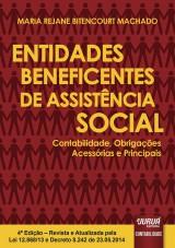 Capa do livro: Entidades Beneficentes de Assistência Social, Maria Rejane Bitencourt Machado
