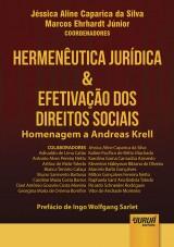 Capa do livro: Hermen�utica Jur�dica & Efetiva��o dos Direitos Sociais - Homenagem a Andreas Krell - Pref�cio de Ingo Wolfgang Sarlet, Coordenadores: J�ssica Aline Caparica da Silva e Marcos Ehrhardt J�nior