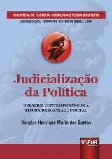 Capa do livro: Judicialização da Política, Douglas Henrique Marin dos Santos