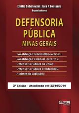 Capa do livro: Defensoria Pública - Minas Gerais, Organizadores: Emilio Sabatovski e Iara P. Fontoura
