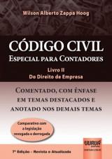 Capa do livro: Código Civil - Especial para Contadores - Livro II - Do Direito de Empresa, Wilson Alberto Zappa Hoog