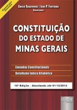 Capa do livro: Constituição do Estado de Minas Gerais - Emendas Constitucionais - Detalhado Índice Alfabético - Especial para Concursos, Emilio Sabatovski e Iara P. Fontoura