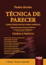 Capa do livro: Técnica de Parecer - Como Fazer um Dictamen Jurídico - Teoria e Prática, Pedro Durão