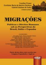 Capa do livro: Migrações, Coordenadores: Caroline Proner, Estefânia Maria de Queiroz Barboza e Gabriel Gualano de Godoy