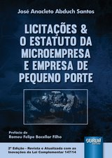 Capa do livro: Licitações & O Estatuto da Microempresa e Empresa de Pequeno Porte, José Anacleto Abduch Santos
