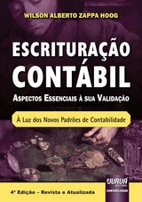 Capa do livro: Escrituração Contábil, Wilson Alberto Zappa Hoog