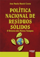 Capa do livro: Política Nacional de Resíduos Sólidos, Ana Paula Maciel Costa Kalil