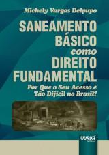 Capa do livro: Saneamento Básico como Direito Fundamental, Michely Vargas Delpupo