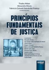 Capa do livro: Princ�pios Fundamentais de Justi�a, Coordenadores: Thadeu Weber, Alessandra Mizuta e Fabriccio Steindorfer