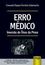 Capa do livro: Erro Médico, Consuelo Taques Ferreira Salamacha