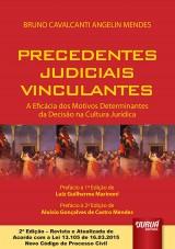 Capa do livro: Precedentes Judiciais Vinculantes - A Eficácia dos Motivos Determinantes da Decisão na Cultura Jurídica, Bruno Cavalcanti Angelin Mendes