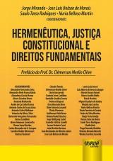 Capa do livro: Hermenêutica, Justiça Constitucional e Direitos Fundamentais, Coordenadores: Jorge Miranda, Jose Luis Bolzan de Morais, Saulo Tarso Rodrigues e Nuria Belloso Martín