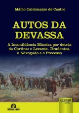 Capa do livro: Autos da Devassa, Mário Caldonazzo de Castro