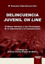 Capa do livro: Delincuencia Juvenil On Line, María Sonsoles Vidal Herrero-Vior