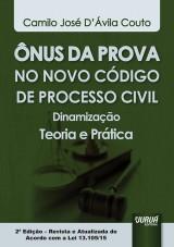 Capa do livro: Ônus da Prova no Novo Código de Processo Civil, Camilo José D´Ávila Couto