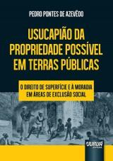Capa do livro: Usucapião da Propriedade Possível em Terras Públicas, Pedro Pontes de Azevêdo