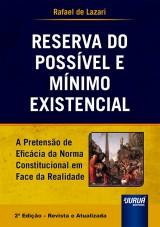 Capa do livro: Reserva do Possível e Mínimo Existencial, Rafael de Lazari