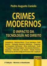 Capa do livro: Crimes Modernos - O Impacto da Tecnologia no Direito, Pedro Augusto Zaniolo