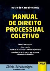 Capa do livro: Manual de Direito Processual Coletivo, Inacio de Carvalho Neto