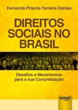 Capa do livro: Direitos Sociais no Brasil - Desafios e Mecanismos para a sua Concretização, Fernanda Priscila Ferreira Dantas