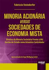 Capa do livro: Minoria Acionária versus Sociedade de Economia Mista, Fabriccio Steindorfer