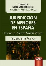 Capa do livro: Jurisdicción de Menores en España, José de los Santos Martín Ostos