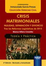 Capa do livro: Crisis Matrimoniales - Nulidad, Separación y Divorcio, Blanca Sillero Crovetto