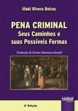 Capa do livro: Pena Criminal, Iñaki Rivera Beiras - Tradutora: Denise Hammerschmidt