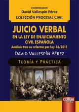 Capa do livro: Juicio Verbal en la Ley de Enjuiciamiento Civil Española, David Vallespín Pérez