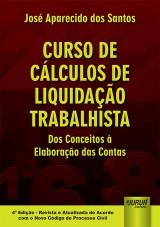 Capa do livro: Curso de Cálculos de Liquidação Trabalhista, José Aparecido dos Santos