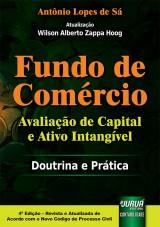 Capa do livro: Fundo de Comércio - Avaliação de Capital e Ativo Intangível - Doutrina e Prática, Antônio Lopes de Sá – Atualização: Wilson Alberto Zappa Hoog