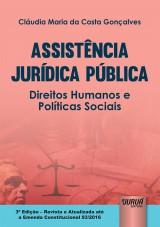 Capa do livro: Assistência Jurídica Pública - Direitos Humanos e Políticas Sociais, Cláudia Maria da Costa Gonçalves