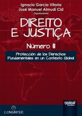 Capa do livro: Direito e Justiça - Número III, Organizadores: Ignacio García Vitoria e José Manuel Almudí Cid