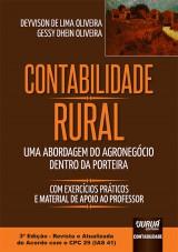 Capa do livro: Contabilidade Rural - Uma Abordagem do Agronegócio dentro da Porteira, Deyvison de Lima Oliveira e Gessy Dhein Oliveira