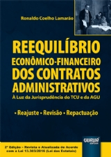 Capa do livro: Reequilíbrio Econômico-Financeiro dos Contratos Administrativos, Ronaldo Coelho Lamarão