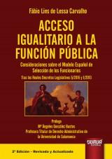 Capa do livro: Acceso Igualitario a la Función Pública, Fábio Lins de Lessa Carvalho