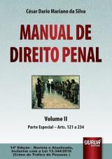 Capa do livro: Manual de Direito Penal - Volume II - Parte Especial - Arts. 121 a 234, César Dario Mariano da Silva
