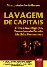 Capa do livro: Lavagem de Capitais - Crimes, Investigação, Procedimento Penal e Medidas Preventivas, Marco Antonio de Barros