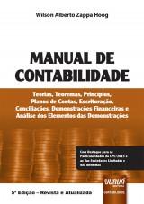 Capa do livro: Manual de Contabilidade, Wilson Alberto Zappa Hoog
