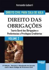 Capa do livro: Direito Civil para Sala de Aula - Volume 2 - Direito das Obrigações - Teoria Geral das Obrigações e Preferências e Privilégios Creditórios, Fernando Gaburri