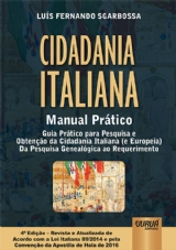 Capa do livro: Cidadania Italiana - Manual Prático, Luís Fernando Sgarbossa