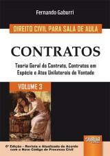 Capa do livro: Direito Civil para Sala de Aula - Volume 3, Fernando Gaburri
