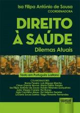 Capa do livro: Direito à Saúde, Coordenadora: Isa Filipa António de Sousa