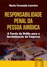 Capa do livro: Responsabilidade Penal da Pessoa Jurídica, Maria Fernanda Loureiro