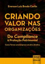 Capa do livro: Criando Valor nas Organizações, Everson Luiz Breda Carlin