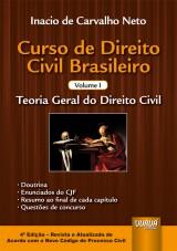 Capa do livro: Curso de Direito Civil Brasileiro - Volume I, Inacio de Carvalho Neto