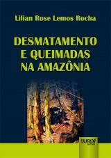Capa do livro: Desmatamento e Queimadas na Amazônia, Lilian Rose Lemos Rocha